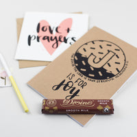 Thinking of You box with notebook & divine chocolate