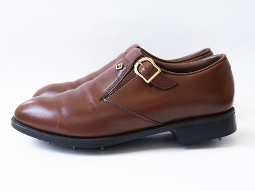 FJ's by FootJoy Leather Monk Strap Golf Shoes (7.5)