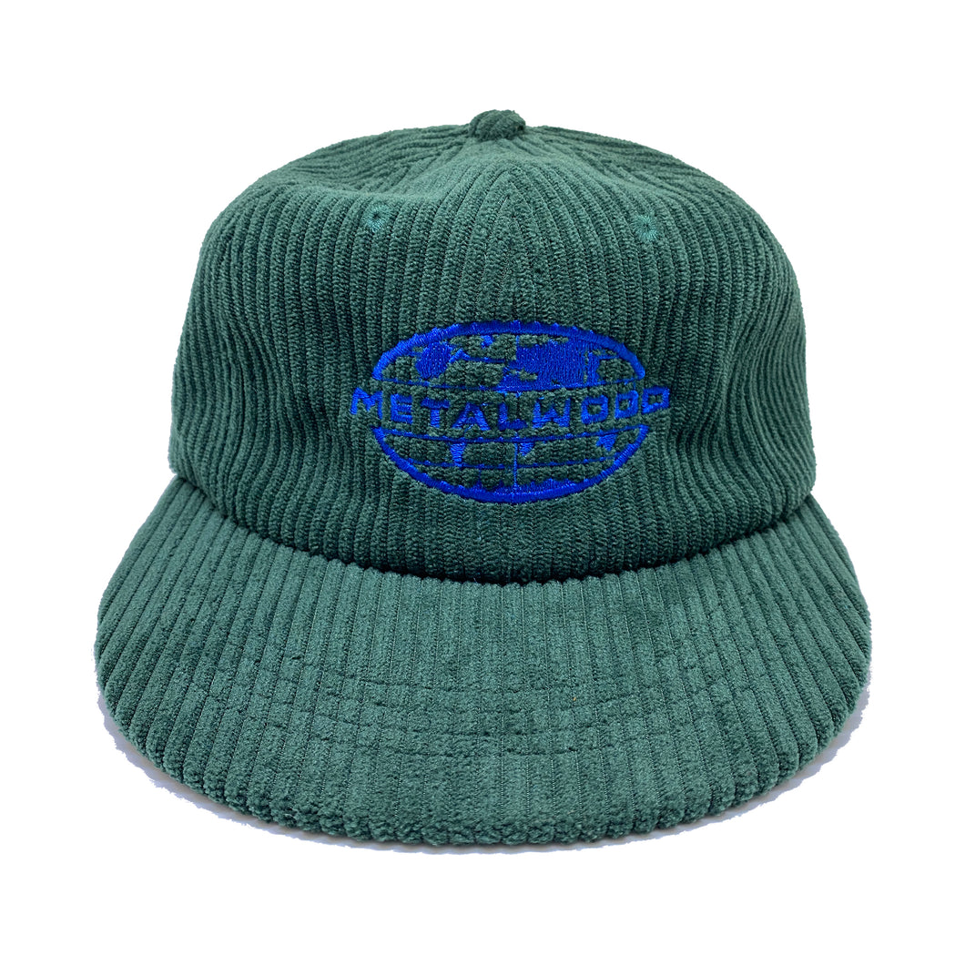 MetalWorld Unstructured 6-Panel Corduroy Strapback Hat