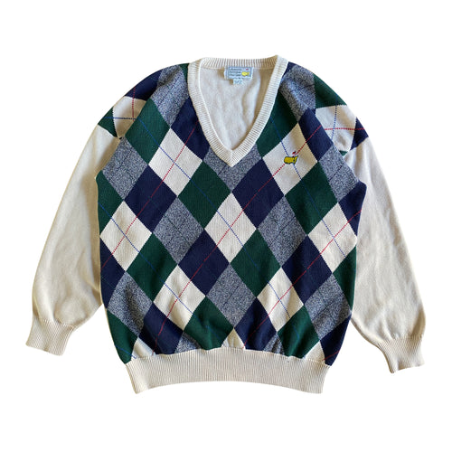 Slazenger x Augusta National Golf Shop Knit Argyle Sweater (XL)