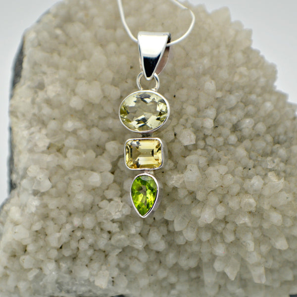 Green Ametyst, Citrine and Peridot
