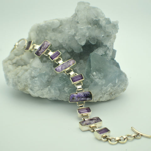 Charoite and Amethyst