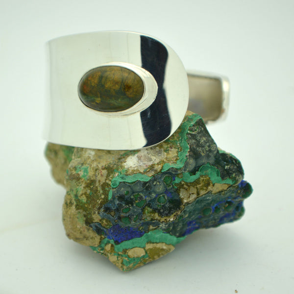 Rainforest Jasper Wrap Side Cuff