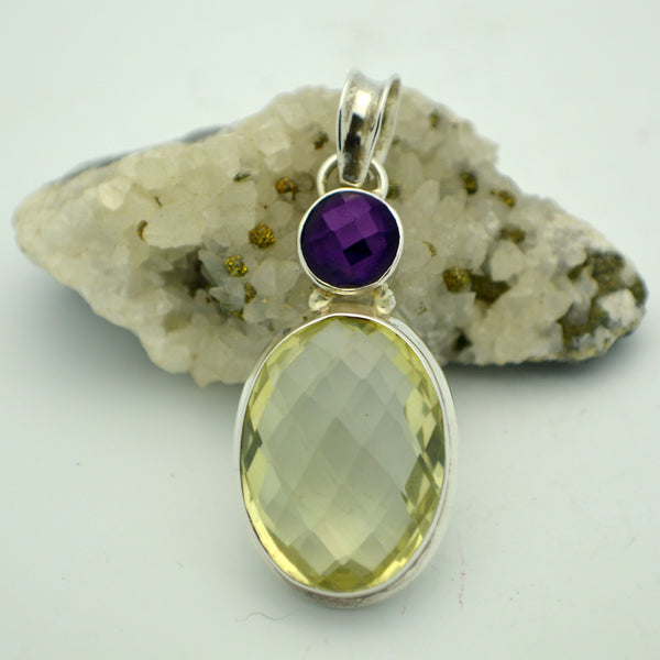 Happy Citrine and Amethyst