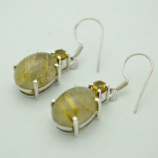 Citrine and Rutillated Quartz