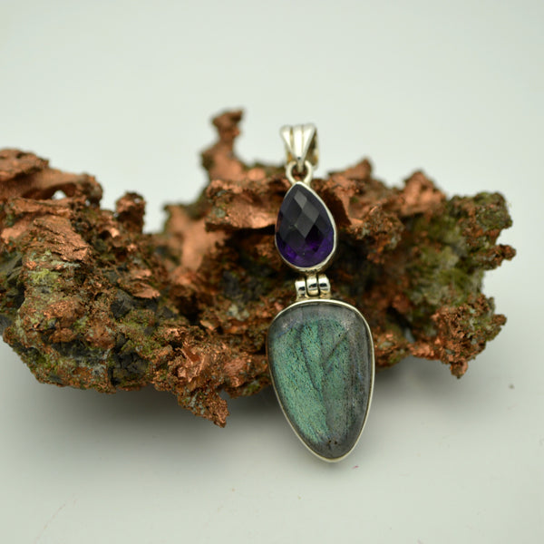 Labradorite and Amethyst