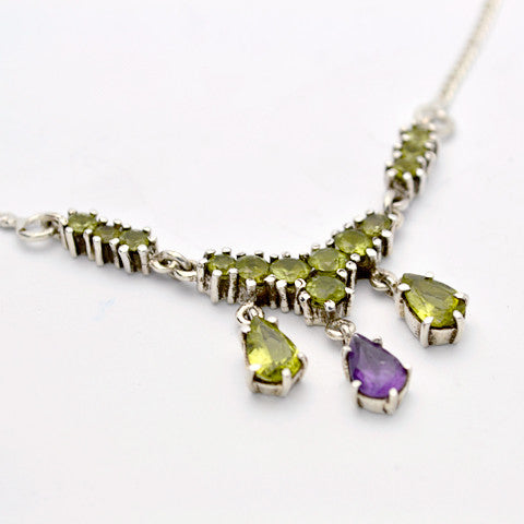 Peridot and  Amethyst One of a Kind