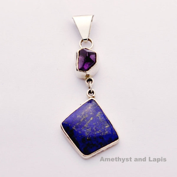Freeform Amethyst and Lapis