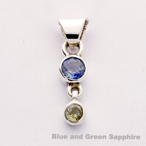 Green and Blue Sapphire one of a kind