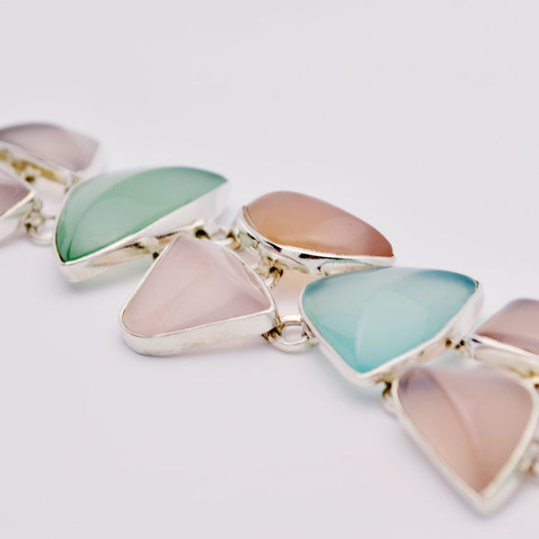Blue and Pink Chalcedony