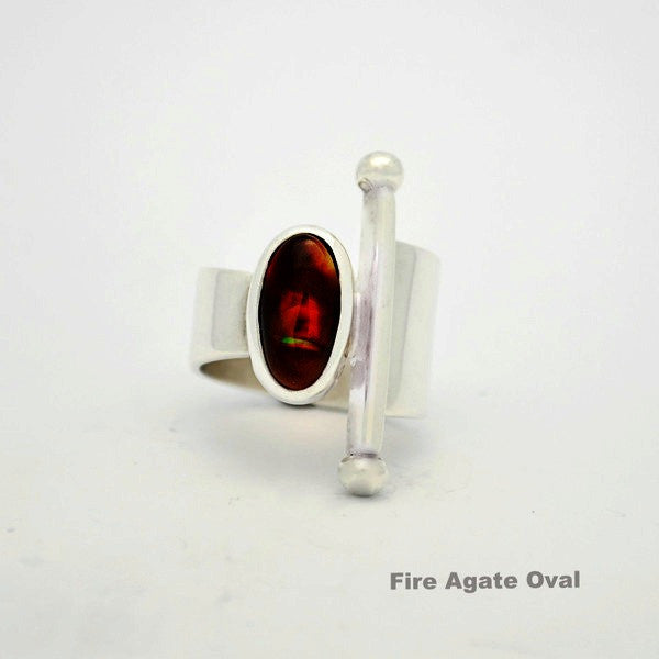 Totemic Fire Agate Oval
