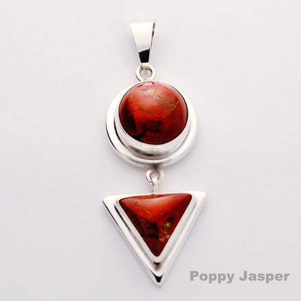 Two Shape Poppy Jasper