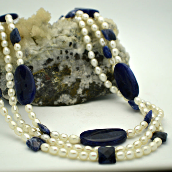 Fresh Water Pearl and Sodalite