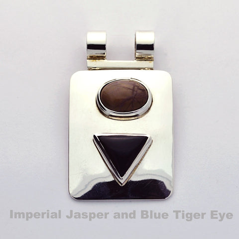 Imperial Jasper and Blue Tiger eye