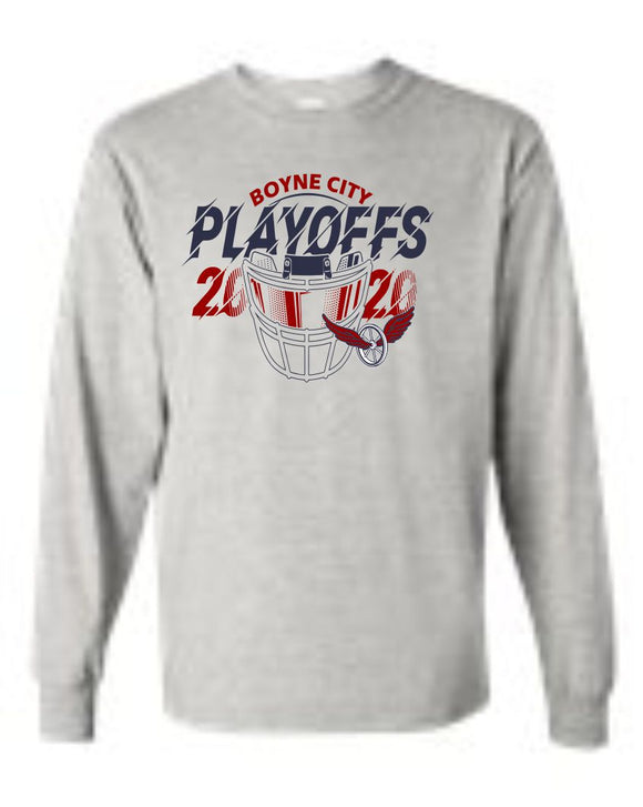 2020 Boyne City Football Playoff Long Sleeve Shirt