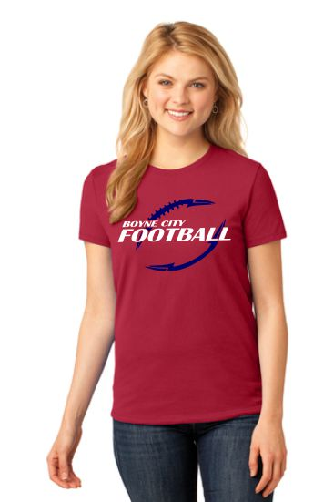 Port & Company® Ladies Core Cotton Tee / LPC54 - Football