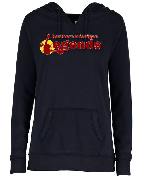Legends Ladies V-Notch Fleece Pullover Hood
