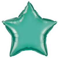 "19"" Star Chrome Green Balloon"