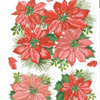 Poinsettia Window Clings