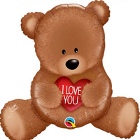 "35"" I Love You Teddy Bear Balloon"