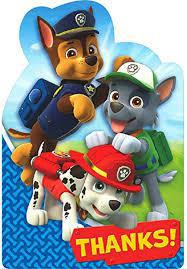 Paw Patrol Thank You