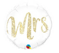 "18"" Mrs Glitter Gold balloon"