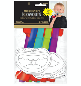 New Year's Eve Coloring Blowouts