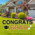 Graduation Yard Card w/ Yard stake metal Pkg RENTAL ONLY
