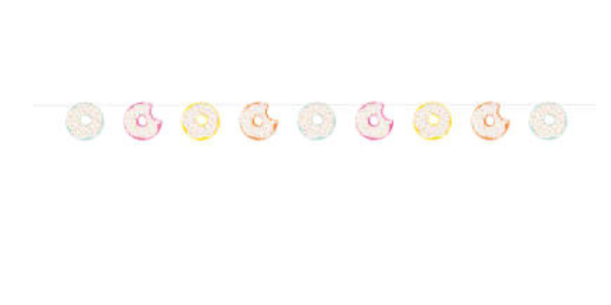 Donut Party Cut Out Banner 7 ft