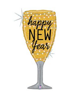 "37"" New Year Champagne Glass Balloon"
