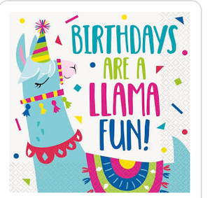 Llama Birthday Lunch Napkins