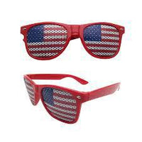 PATRIOTIC FLAG GLASSES