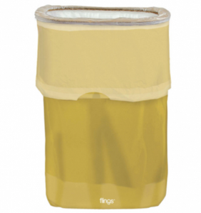 Flings® Pop-Up Trash Bin - Gold