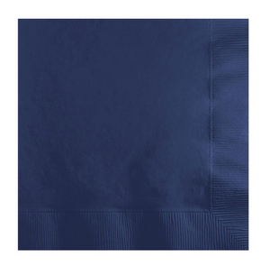 50CT 2PLY NAVY BEVERAGE NAPKINS