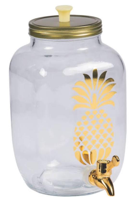 LUXE GLASS PINEAPPLE DISPENSER