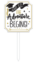The Adventure Begin Yard Sign
