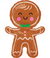 "31"" Happy Gingerbread Man Shape Package"