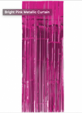 Bright Pink Foil Door Curtain