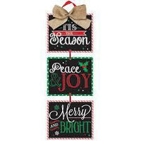 Christmas Sayings Med Hanging Sign