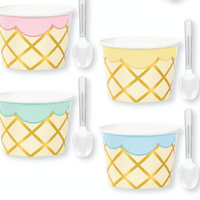 8CT W SPNS ICE CREAM CUPS TREAT