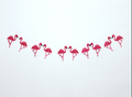 "11"" DIAMOND FLAMINGO BANNER"