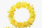 SUPER DELUXE LEI-SOLID YELLOW