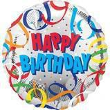 "18"" HAPPY BIRTHDAY STREAMERS BALLOON #145"