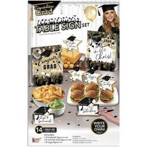 GRADUATION BUFFET DECOR KIT 14CT