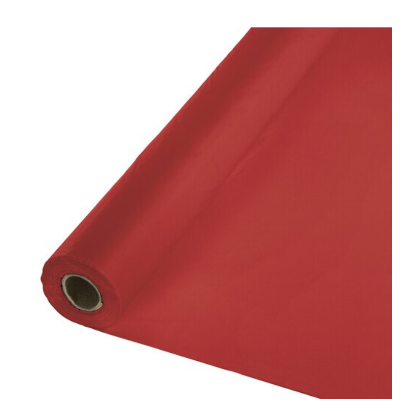 BANQUET ROLL PLASTIC 1CT 100' CLASSIC RED
