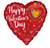 "28"" HAPPY VALENTINE DAY GLITTER HEARTS JUMBO BALLOON"