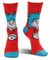 Dr. Seuss The Cat in the Hat Thing 1&2 Costume Crew Socks