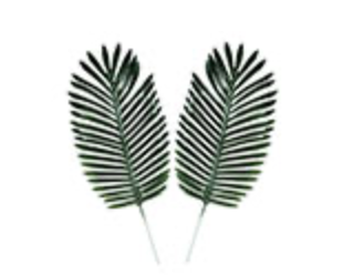 Fabric Fern Palm Leaves
