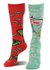 Dr. Seuss Green Eggs & Ham Mismatched Knee High Costume Socks