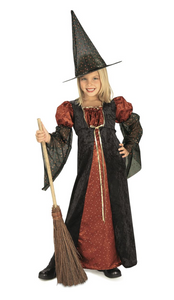 Child Medium Glitter Witch Costume
